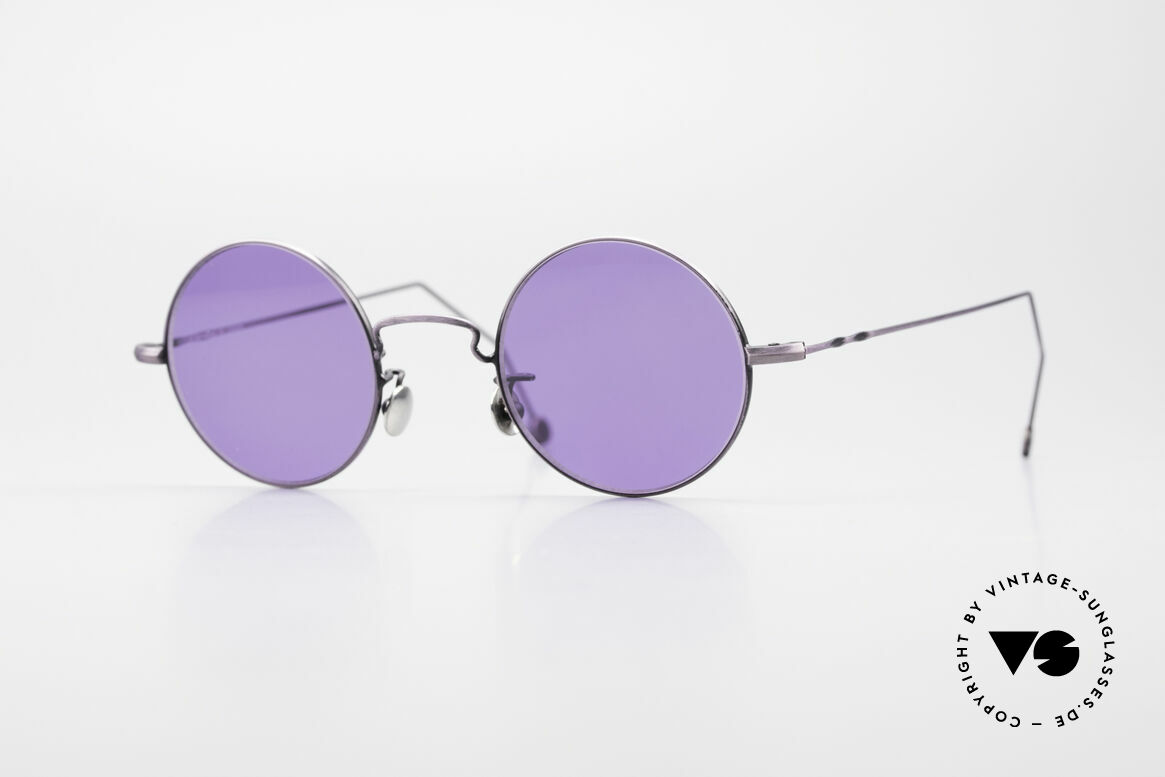 Cutler And Gross 0408 90's Round Vintage Sunglasses, CUTLER and GROSS designer shades from the late 90's, Made for Men and Women