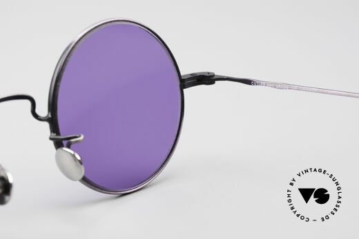 Cutler And Gross 0408 90's Round Vintage Sunglasses, NO RETRO fashion, but a unique 20 years old Original!, Made for Men and Women