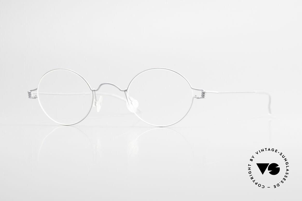 Lindberg Pio Air Titan Rim Round Titanium Frame Unisex, LINDBERG Air Titanium Rim eyeglasses in size 38-24, Made for Men and Women