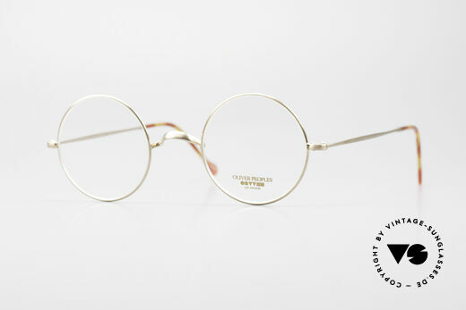 Oliver Peoples OP84BG Small Round Designer Glasses Details