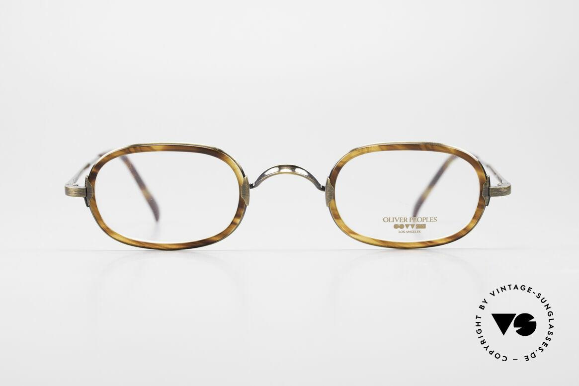 Oliver Peoples Fred Vintage Designer Frame Oval, vintage Oliver Peoples eyeglasses from the late 1990's, Made for Men and Women