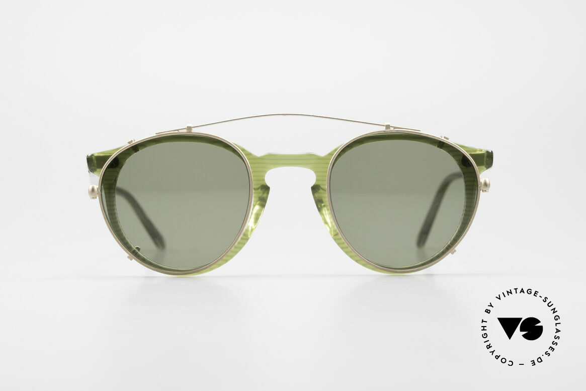 Oliver Peoples O'Malley 981 The 80's Original With Clip On, vintage Oliver Peoples sunglasses, model O'Malley, Made for Men and Women