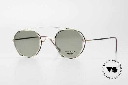 Oliver Peoples OP80BG 90's Vintage Frame Clip On Details