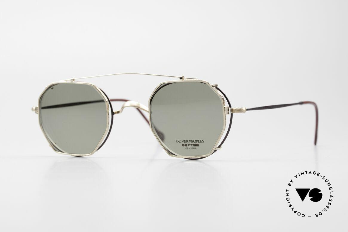 Oliver Peoples OP80BG 90's Vintage Frame Clip On, vintage Oliver Peoples sunglasses from the early 90's, Made for Men and Women