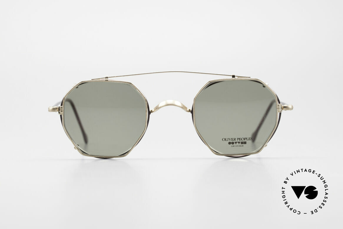 Oliver Peoples OP80BG 90's Vintage Frame Clip On, American LUXURY eyewear brand, established in 1986, Made for Men and Women