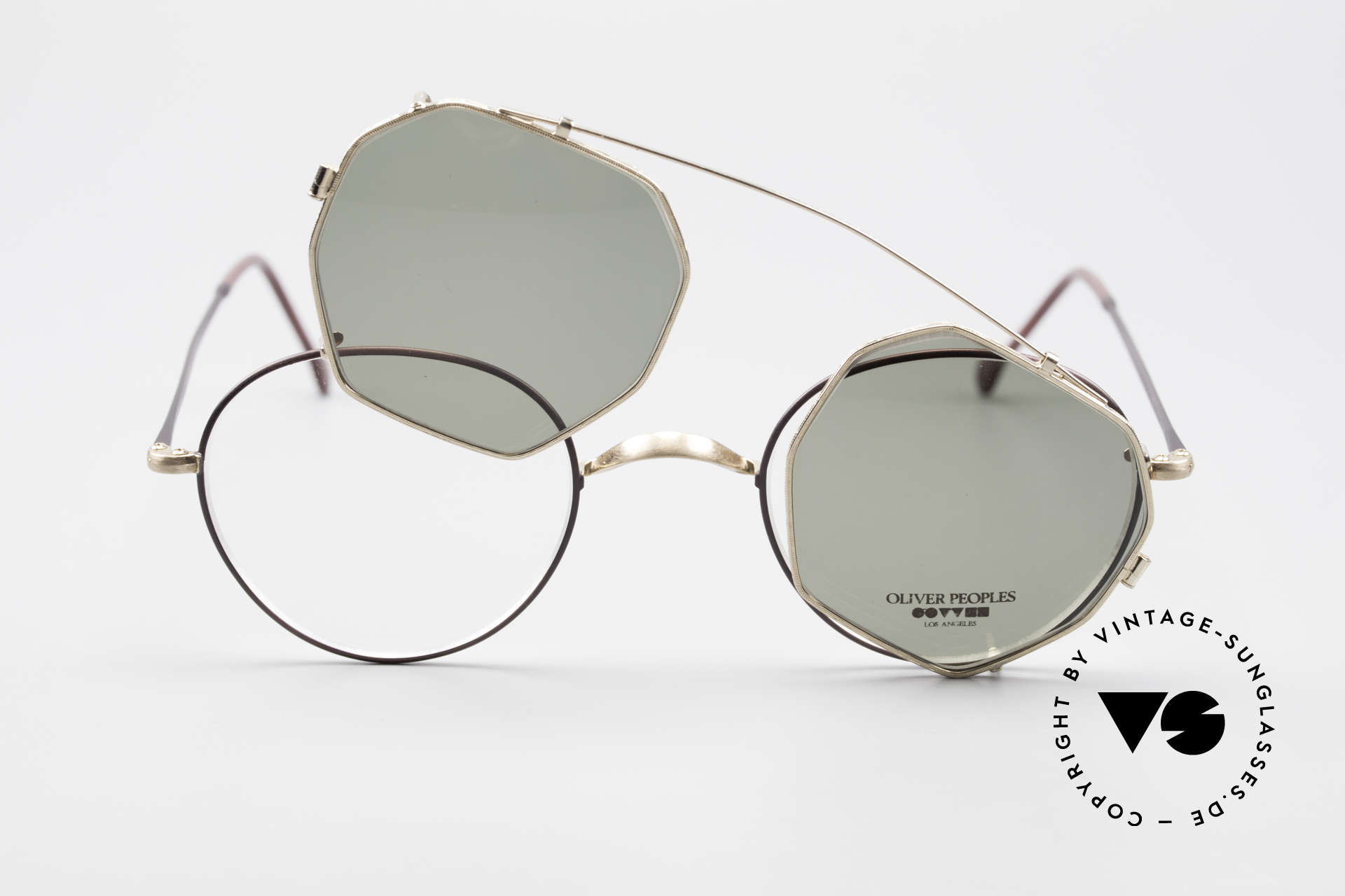 Oliver Peoples OP80BG 90's Vintage Frame Clip On, NO RETRO fashion, but a unique 25 years old Original, Made for Men and Women