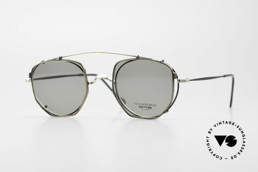 Oliver Peoples OP80BC Round Frame Square Clip On Details