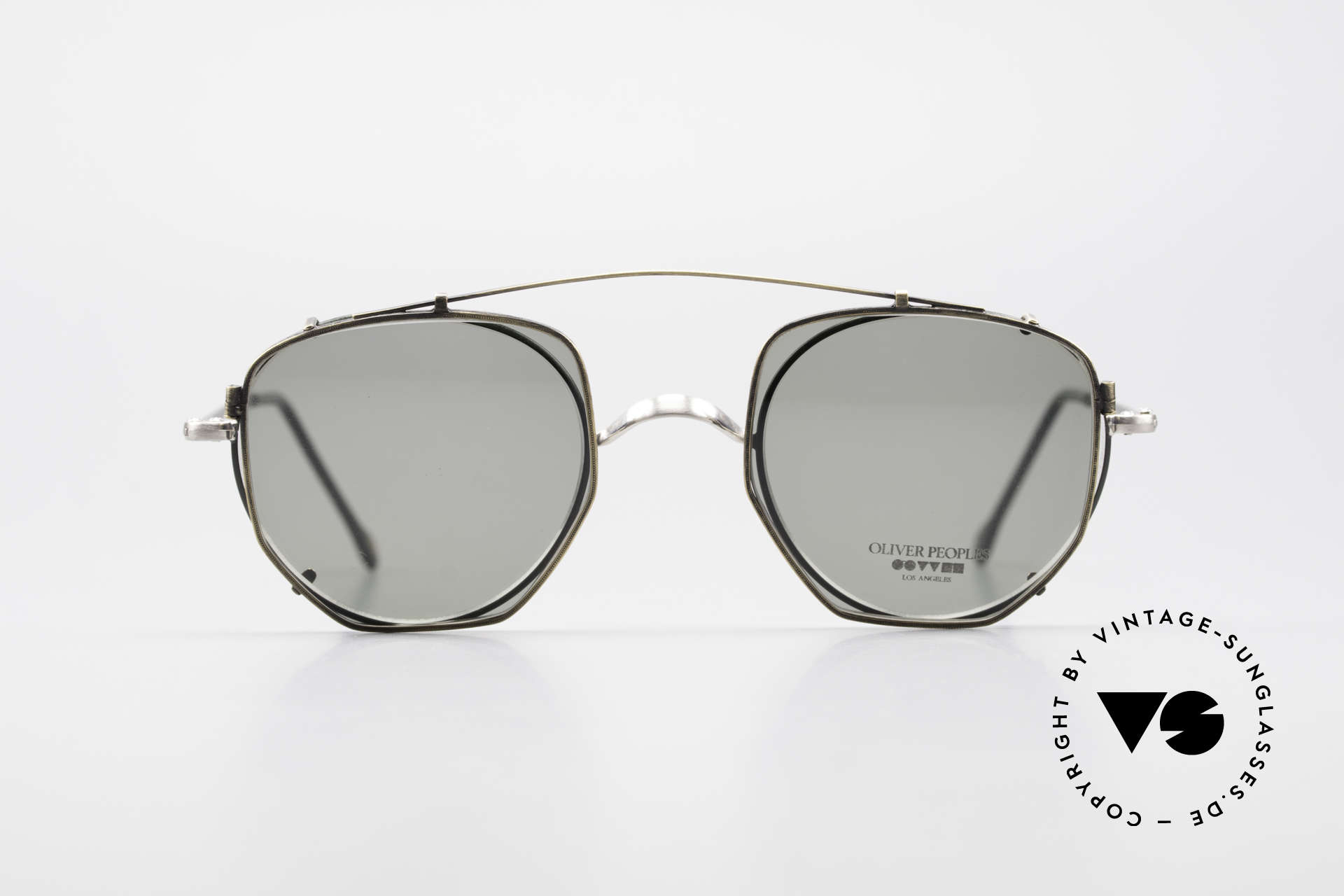 Oliver Peoples OP80BC Round Frame Square Clip On, American LUXURY eyewear brand, established in 1986, Made for Men and Women
