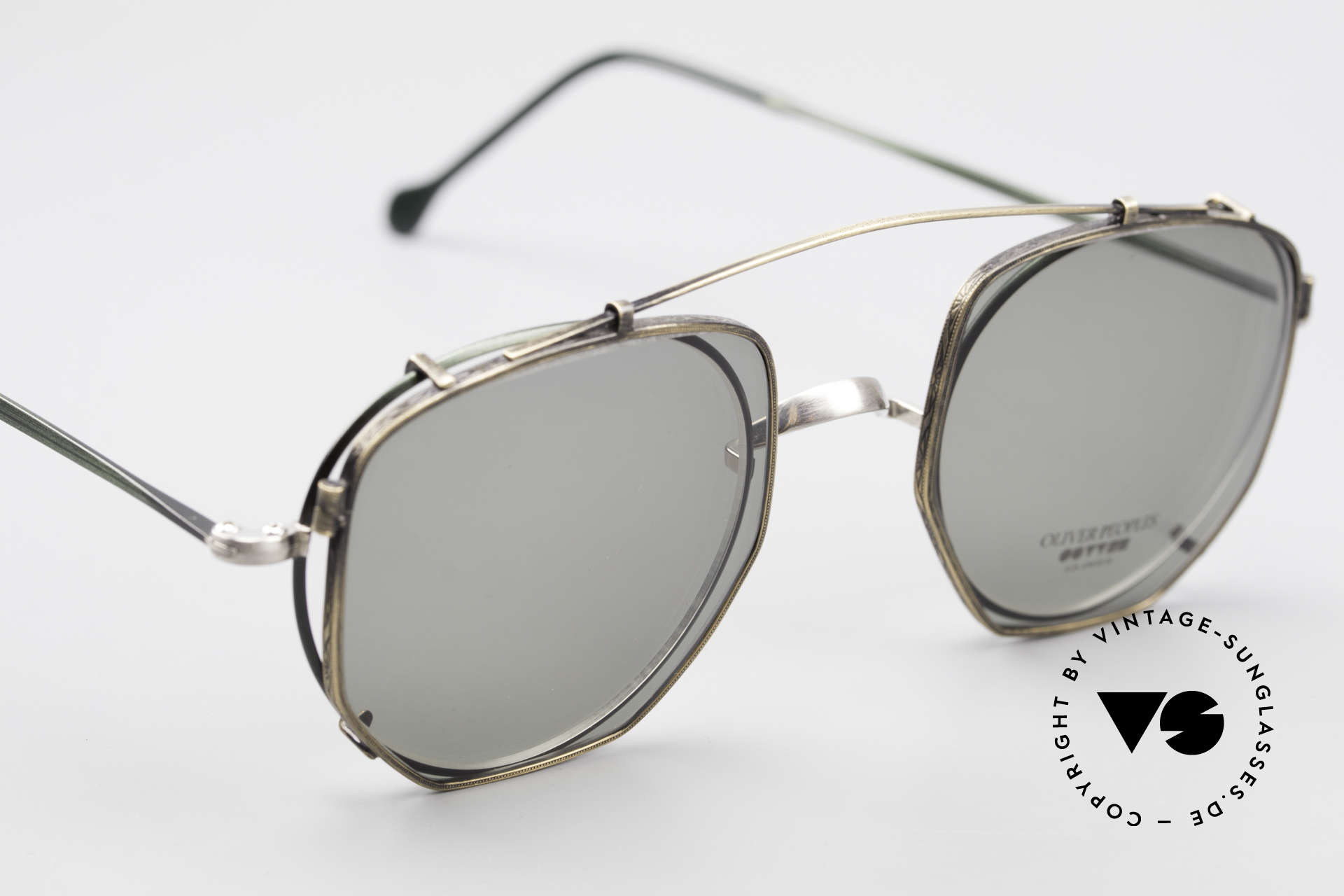 Oliver Peoples OP80BC Round Frame Square Clip On, well, the combination fits & looks cool; one of a kind!, Made for Men and Women