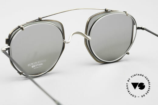 Oliver Peoples OP80BC Round Frame Square Clip On, NO RETRO fashion, but a unique 25 years old Original, Made for Men and Women