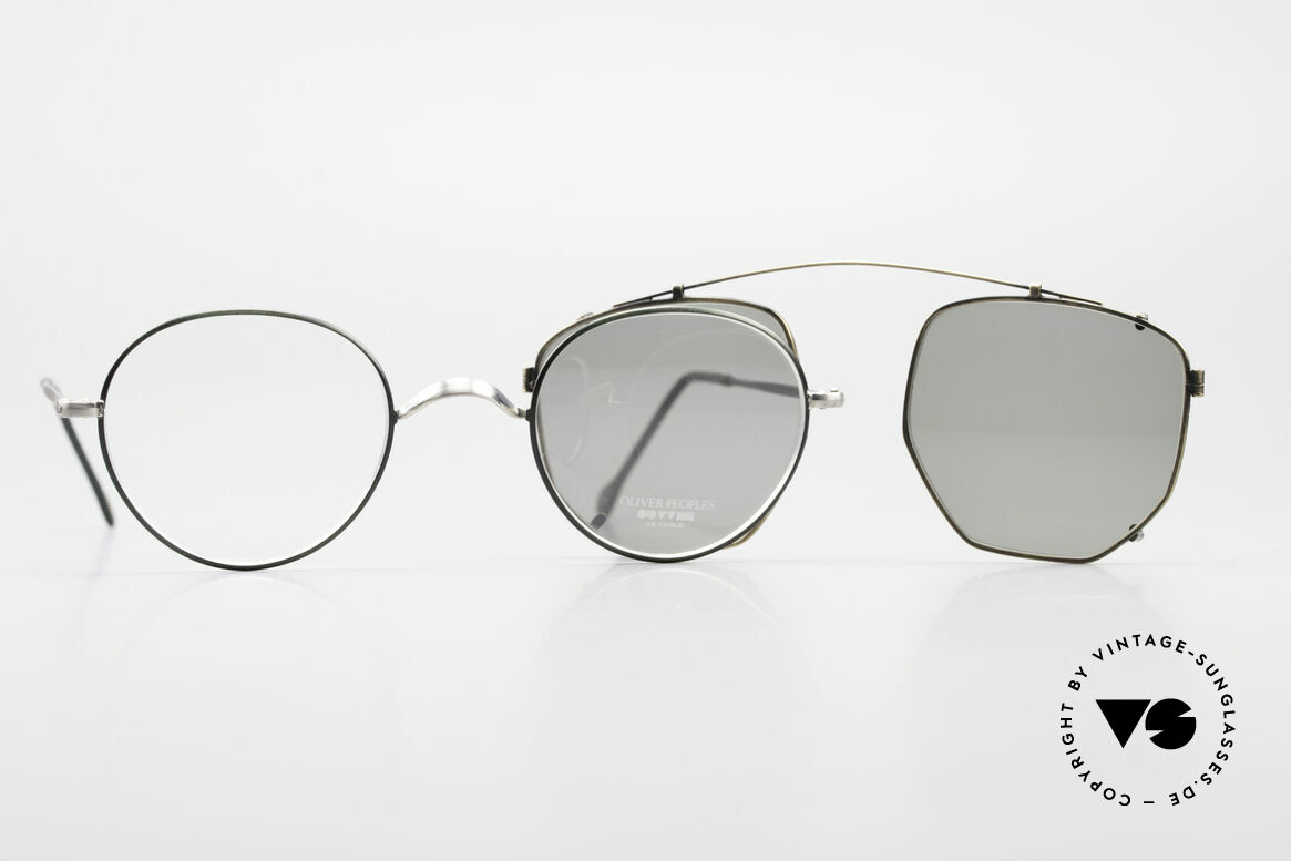 Oliver Peoples OP80BC Round Frame Square Clip On, Size: small, Made for Men and Women