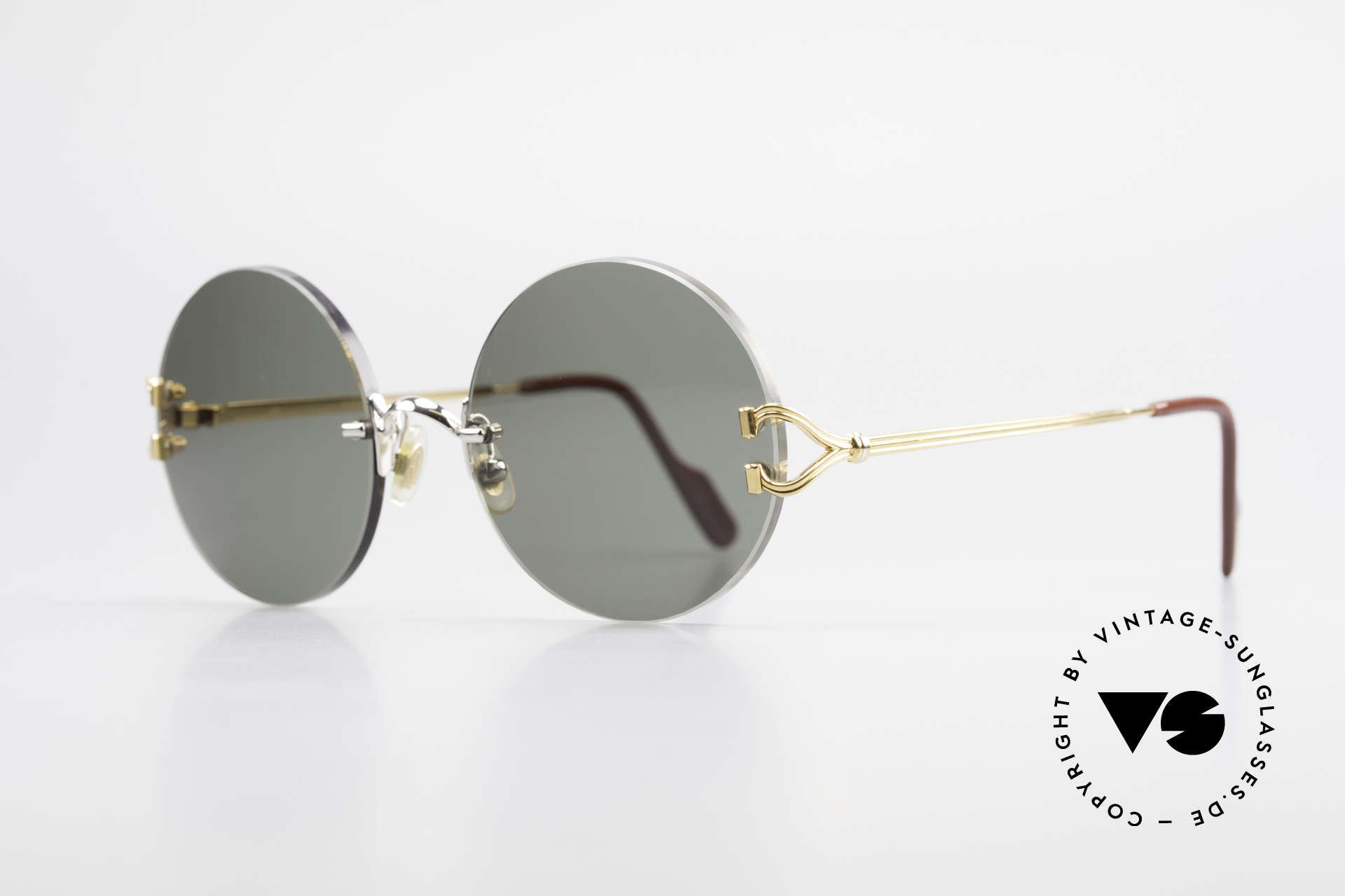 Cartier Madison Round Customized Sunglasses, 2nd hand model, but in a mint condition + orig. box, Made for Men and Women