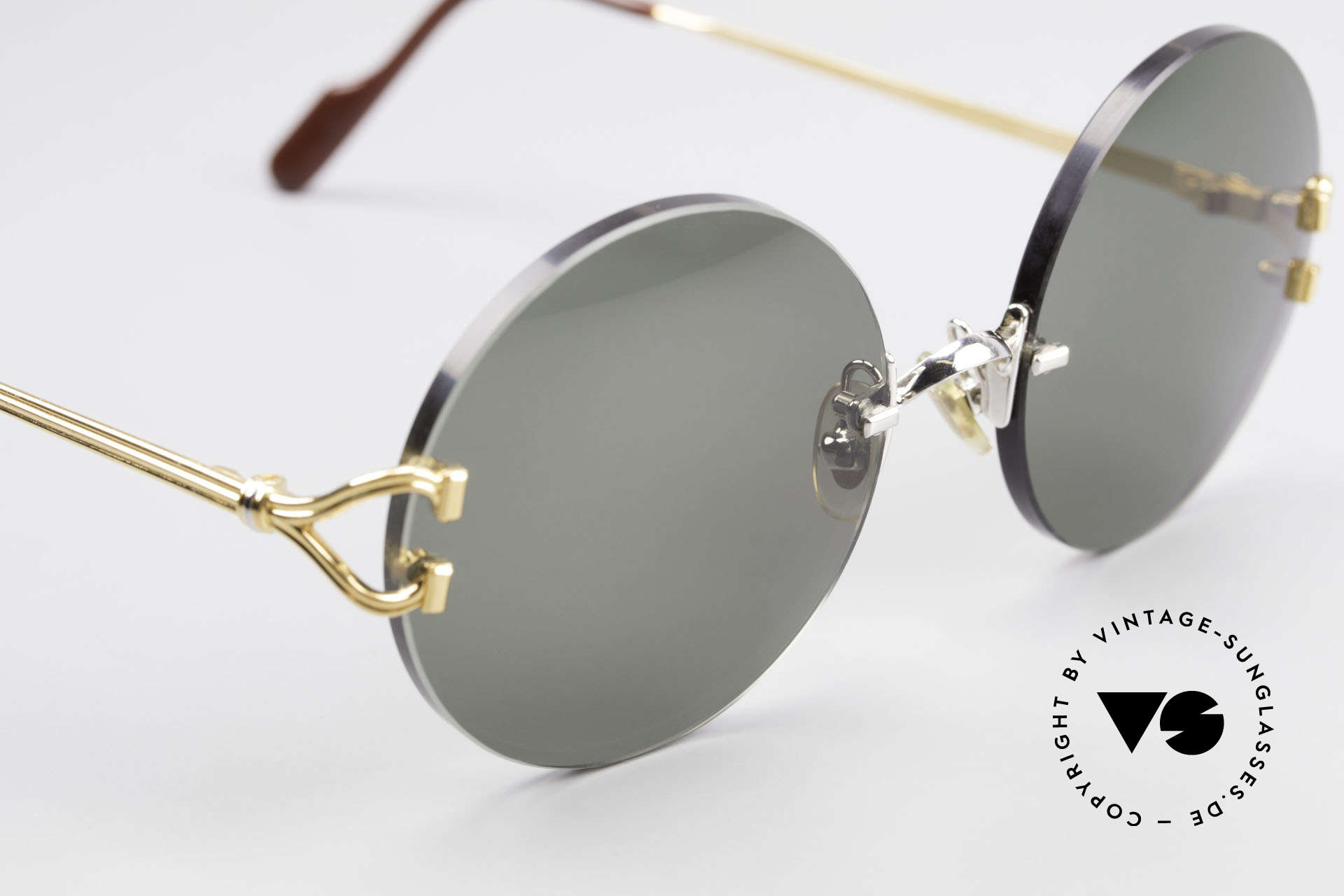 Cartier Madison Round Customized Sunglasses, 135mm temples & 128mm width = rather medium size, Made for Men and Women
