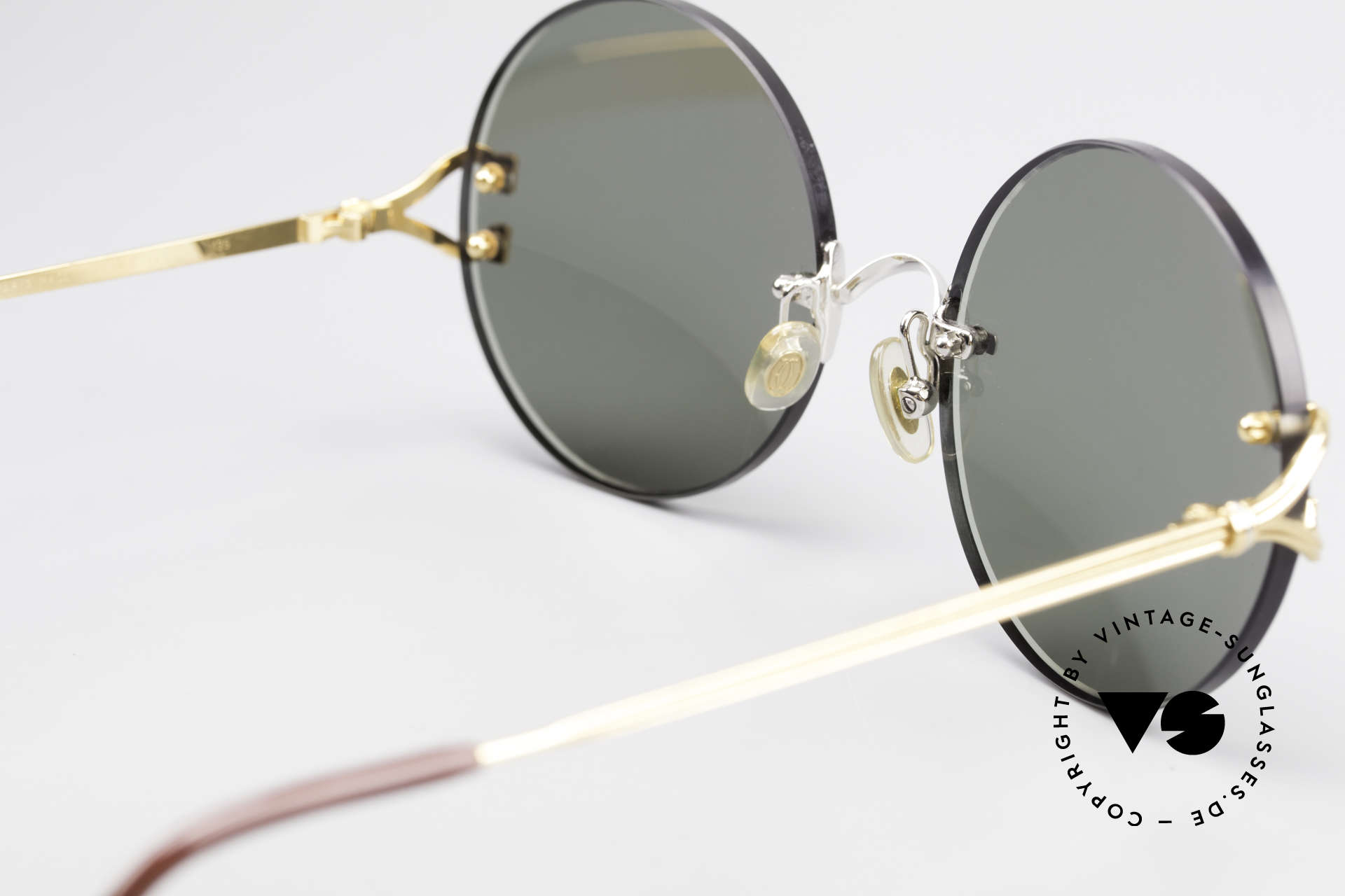 Cartier Madison Round Customized Sunglasses, CUSTOMIZED bicolor edition (gold with silver bridge), Made for Men and Women