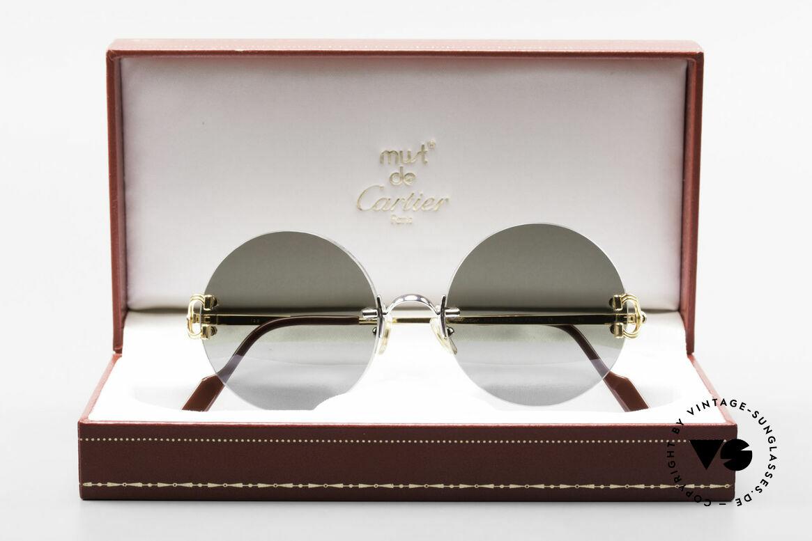 Cartier Madison Round Customized Sunglasses, NO retro sunglasses, but a rare old Cartier ORIGINAL, Made for Men and Women