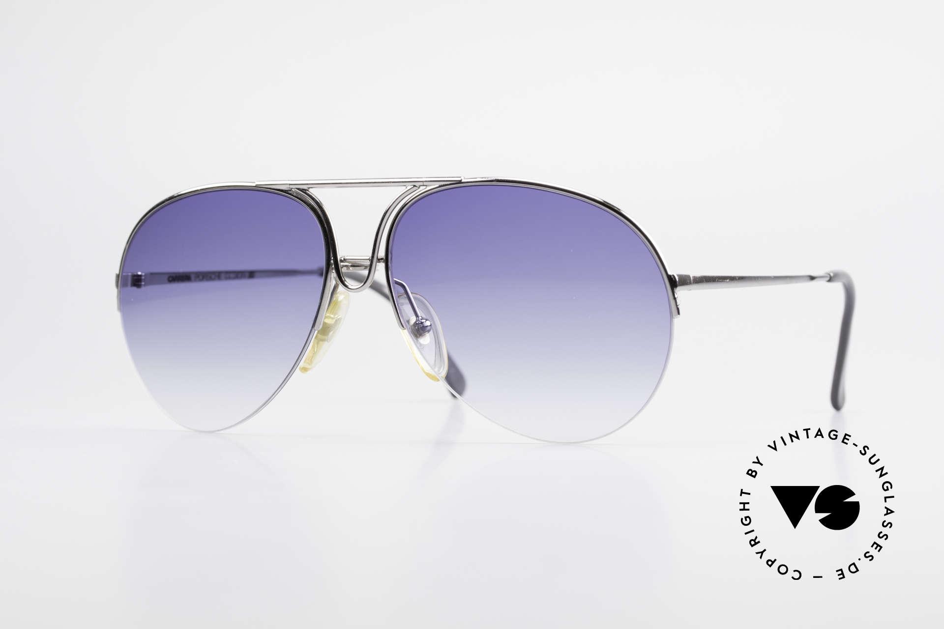 Porsche 5627 Semi Rimless 90's Sunglasses, noble designer sunglasses by PORSCHE DESIGN, Made for Men