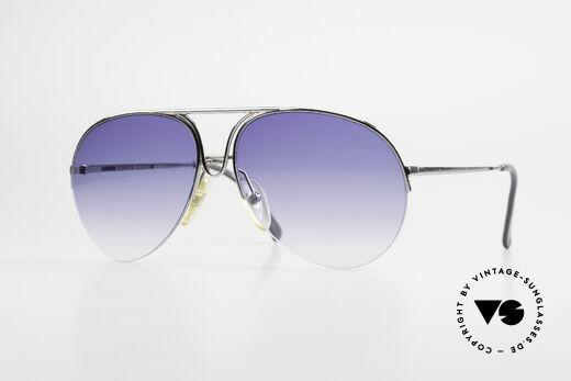 Porsche 5627 Semi Rimless 90's Sunglasses Details