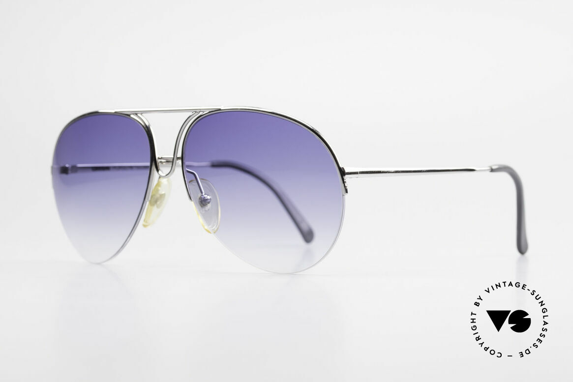 Porsche 5627 Semi Rimless 90's Sunglasses, classic aviator design - MEDIUM size 59/15mm, Made for Men