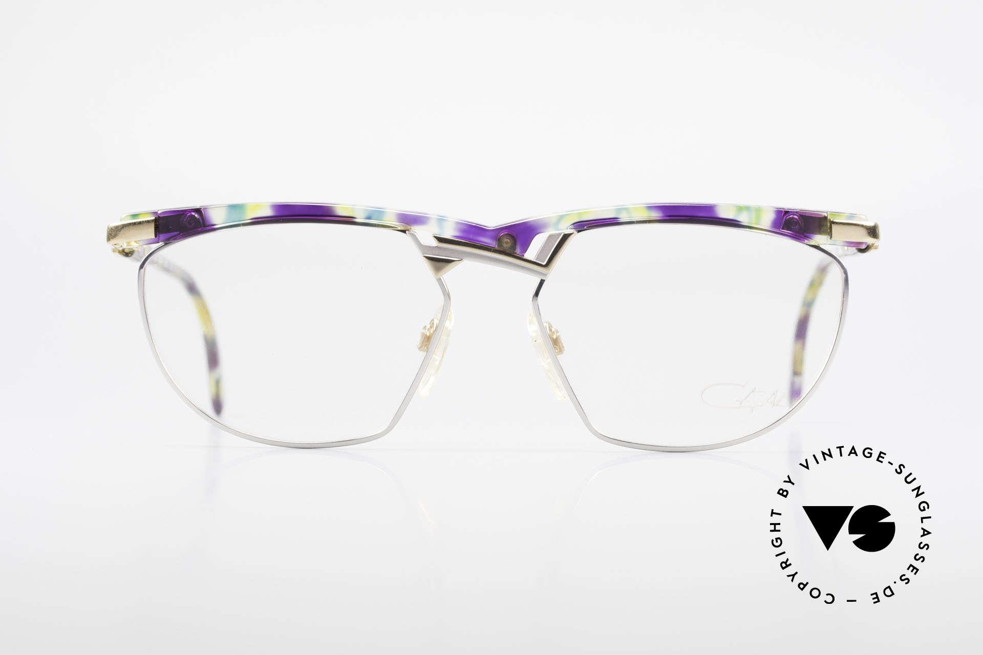 Cazal 252 90's Original True Vintage, fancy combination of colors & materials - true vintage, Made for Men and Women