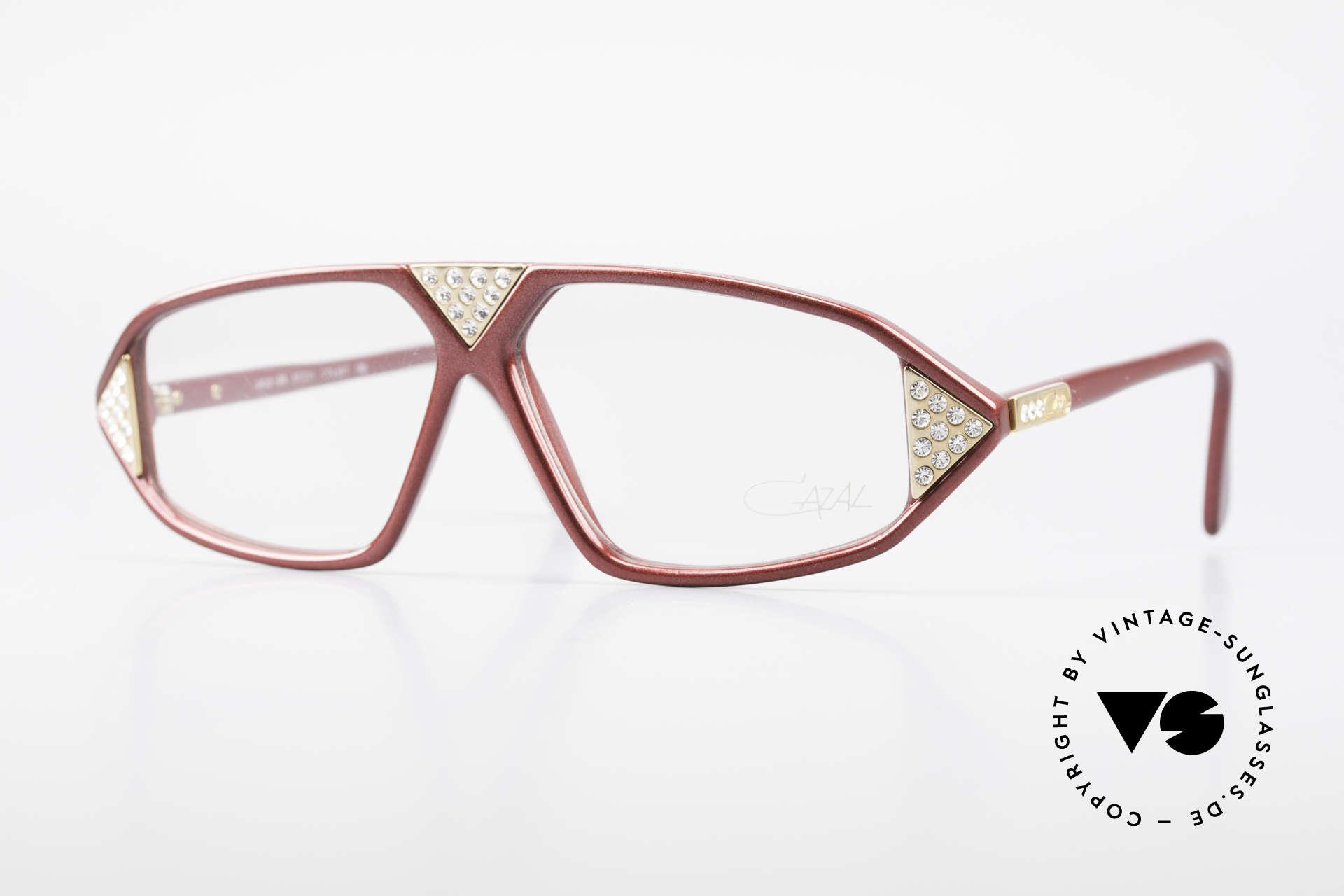 Cazal 199 80's Rhinestone Eyeglasses, rare CAZAL designer eyeglasses for women, Made for Women