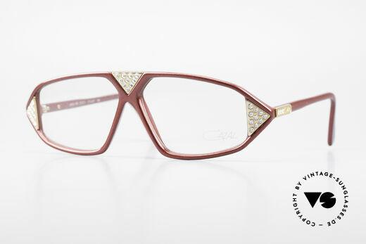 Cazal 199 80's Rhinestone Eyeglasses Details