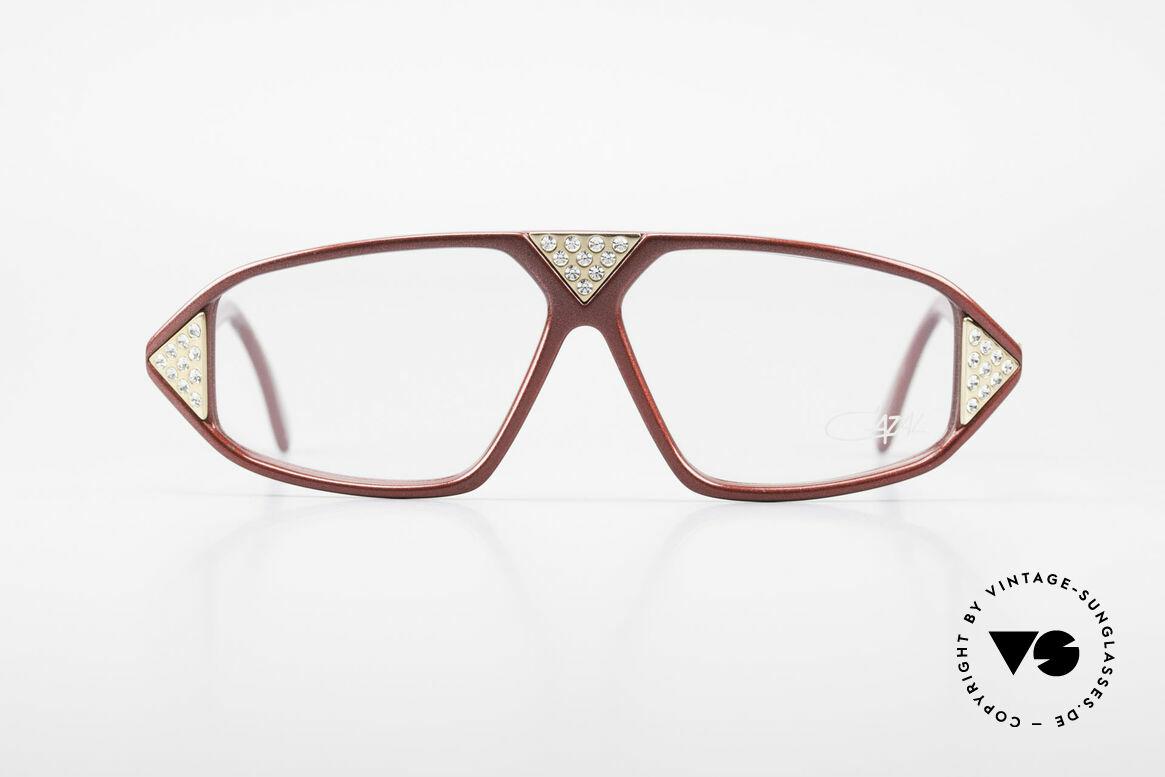 Cazal 199 80's Rhinestone Eyeglasses, vintage Cazal design of the 80s (app. 1988), Made for Women