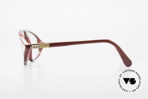 Cazal 199 80's Rhinestone Eyeglasses, the DEMO lenses can be replaced optionally, Made for Women