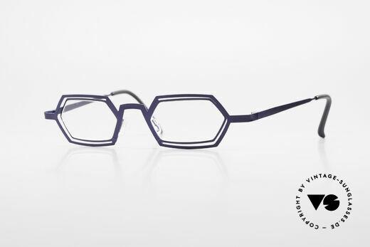 Theo Belgium Reflexs 90s Eyeglasses No Retro Frame Details