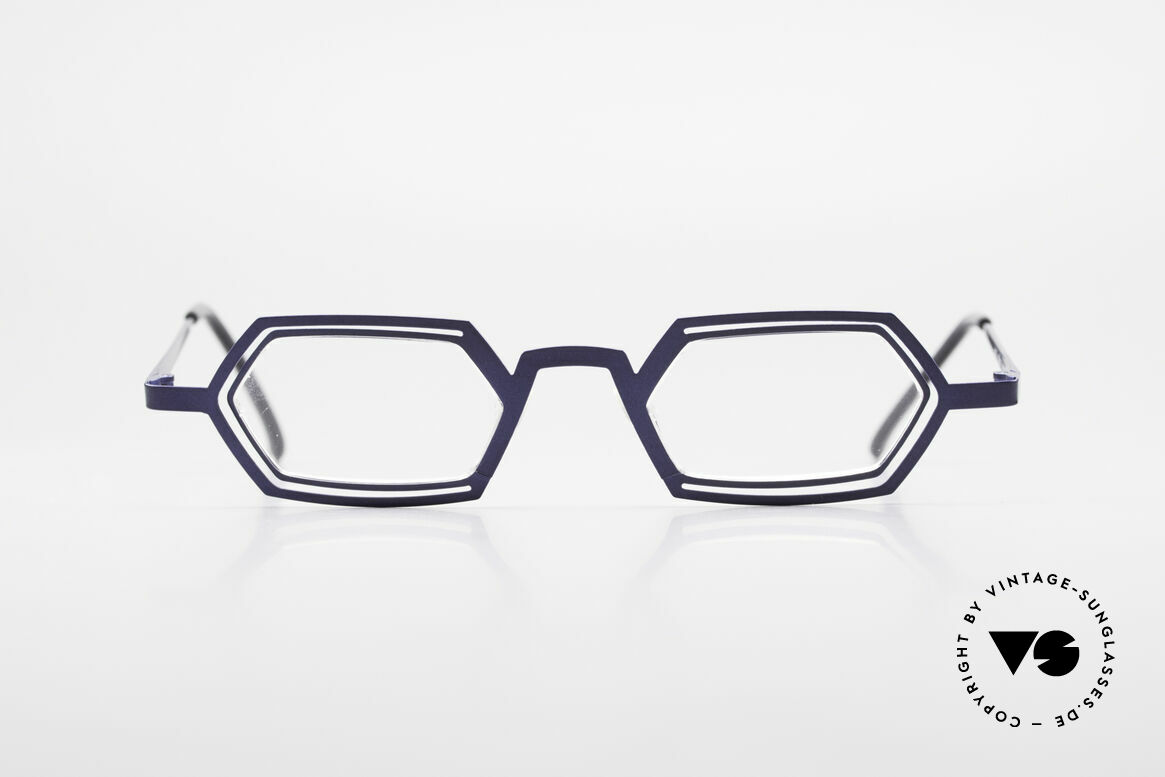 Theo Belgium Reflexs 90s Eyeglasses No Retro Frame, founded in 1989 as 'anti mainstream' eyewear / glasses, Made for Men