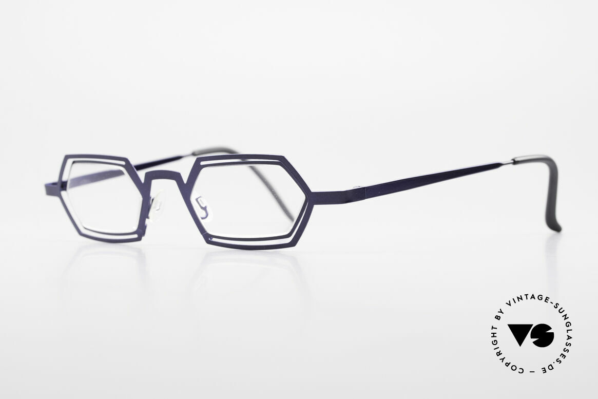 Theo Belgium Reflexs 90s Eyeglasses No Retro Frame, made for the avant-garde, individualists; trend-setters, Made for Men