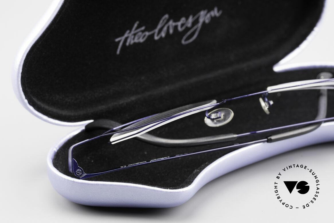 Theo Belgium Reflexs 90s Eyeglasses No Retro Frame, Size: large, Made for Men