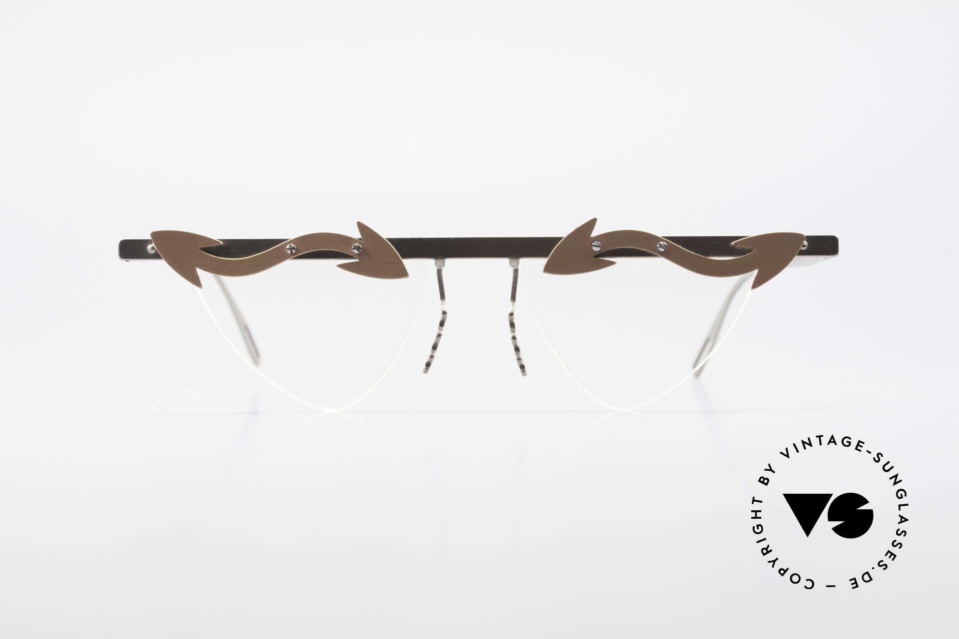 Theo Belgium Tita II Heart Shaped Eyeglasses Titan, founded in 1989 as 'anti mainstream' eyewear / glasses, Made for Women