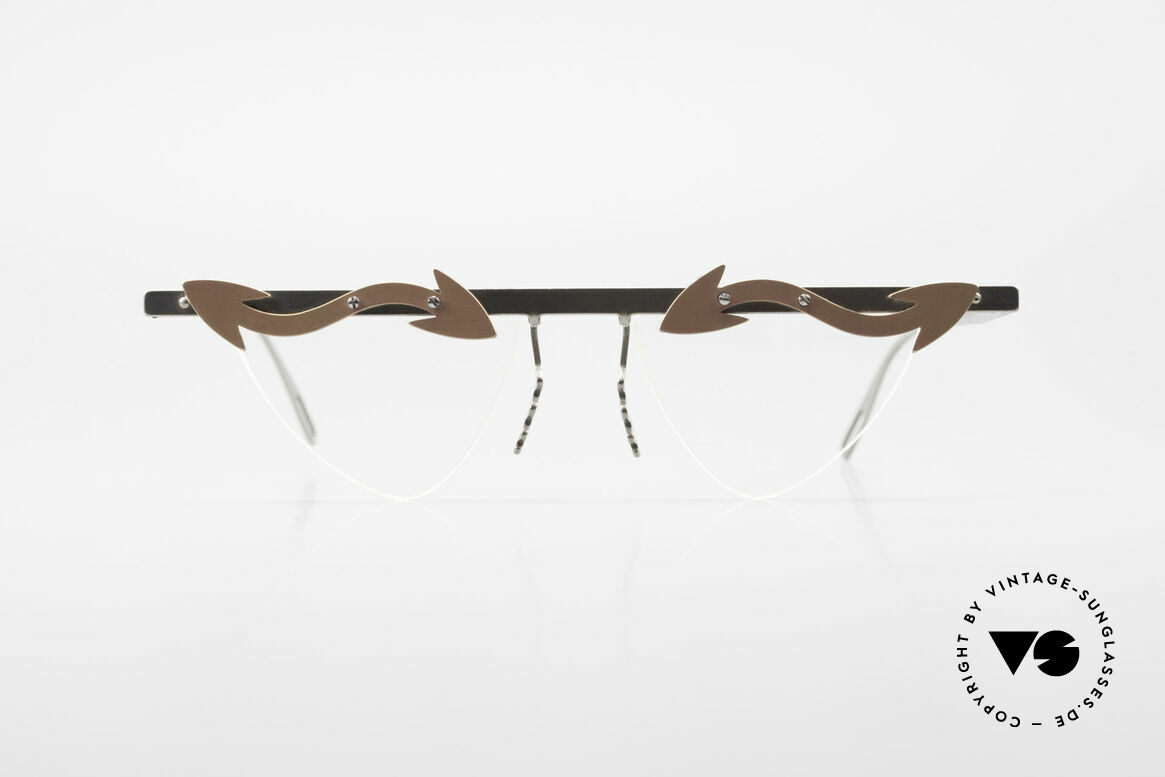 Theo Belgium Tita II Heart Shaped Eyeglasses Titan, founded in 1989 as 'anti mainstream' eyewear / glasses, Made for Women