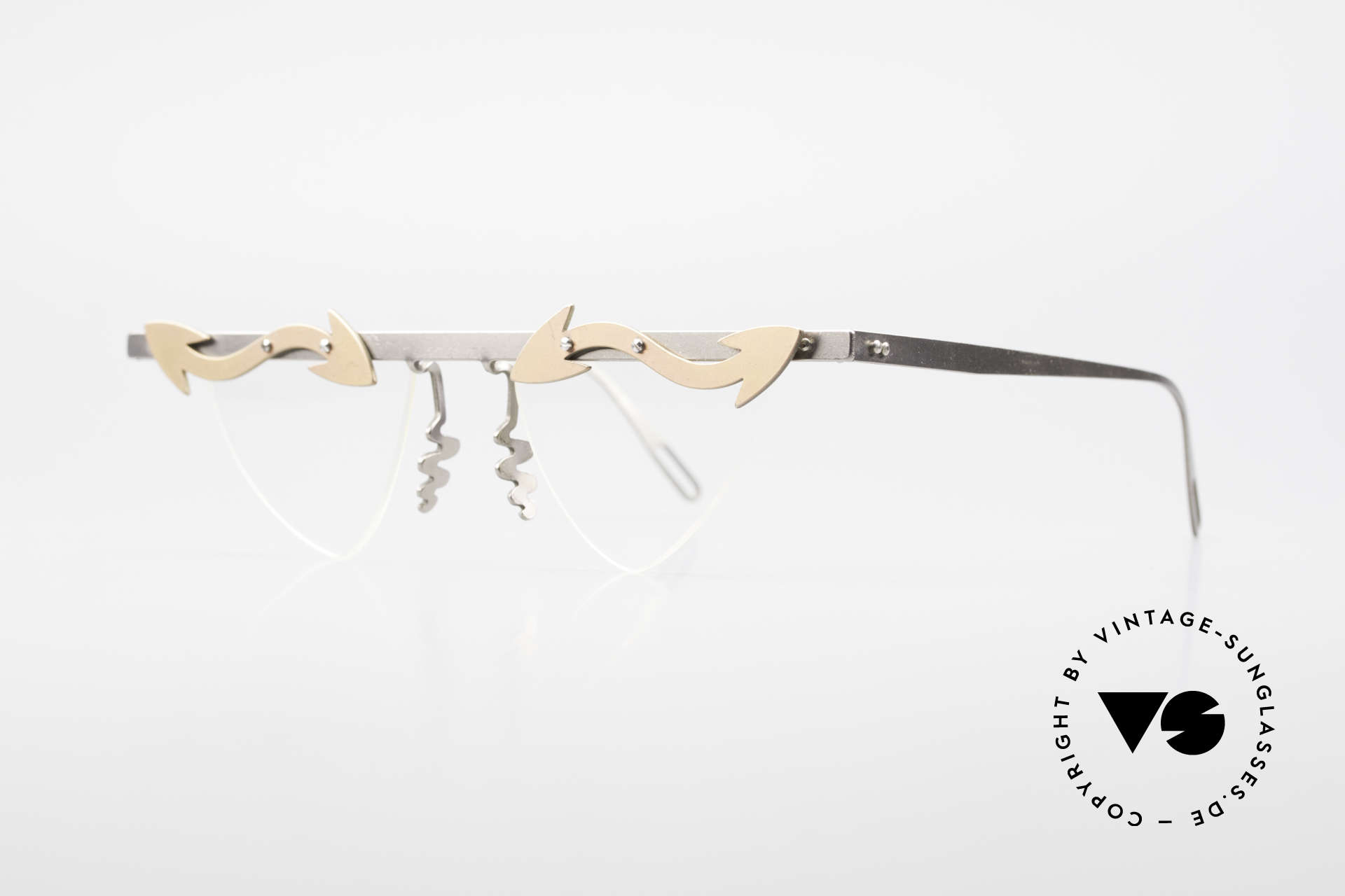 Theo Belgium Tita II Heart Shaped Eyeglasses Titan, TITA SERIES = XL titanium frames by Theo from the 90's, Made for Women