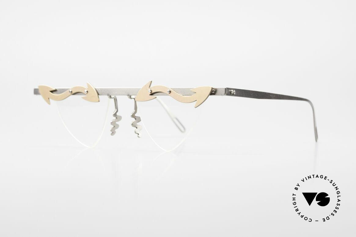Theo Belgium Tita II Heart Shaped Eyeglasses Titan, TITA SERIES = XL titanium frames by Theo from the 90's, Made for Women