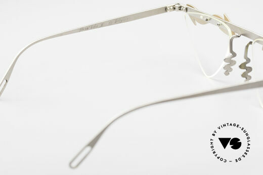 Theo Belgium Tita II Heart Shaped Eyeglasses Titan, heart shaped DEMO LENSES can be replaced optionally, Made for Women