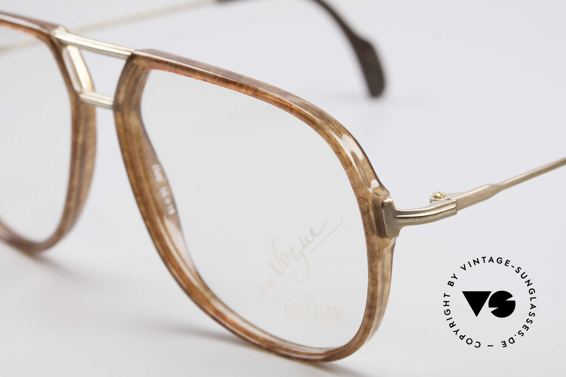Metzler 0664 80's En Vogue Vintage Glasses, NO RETRO GLASSES, but authentic old 1980's frame, Made for Men