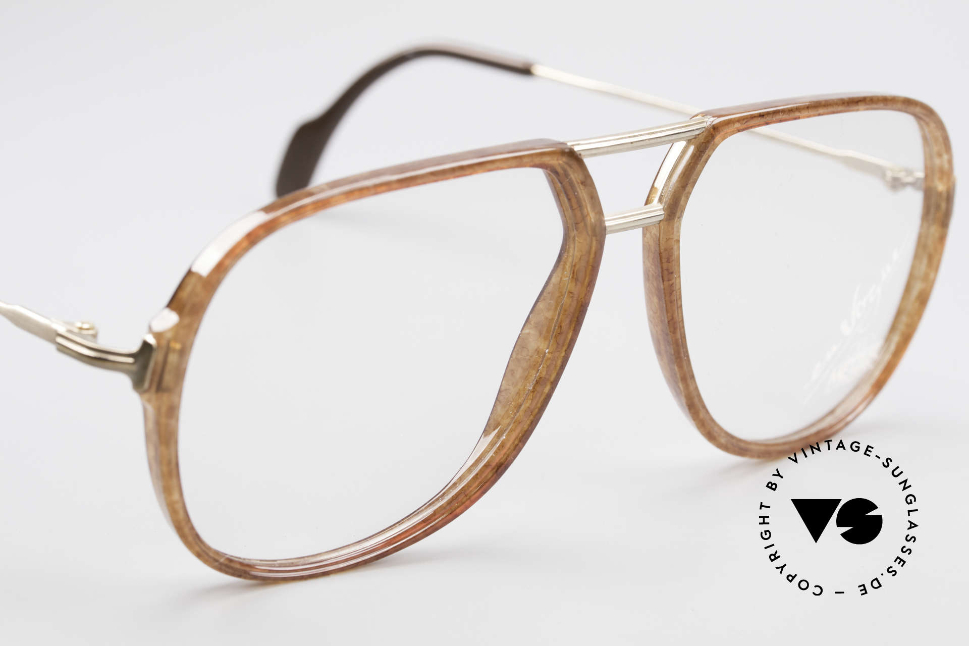 Metzler 0664 80's En Vogue Vintage Glasses, demo lenses can be replaced with lenses of any kind, Made for Men