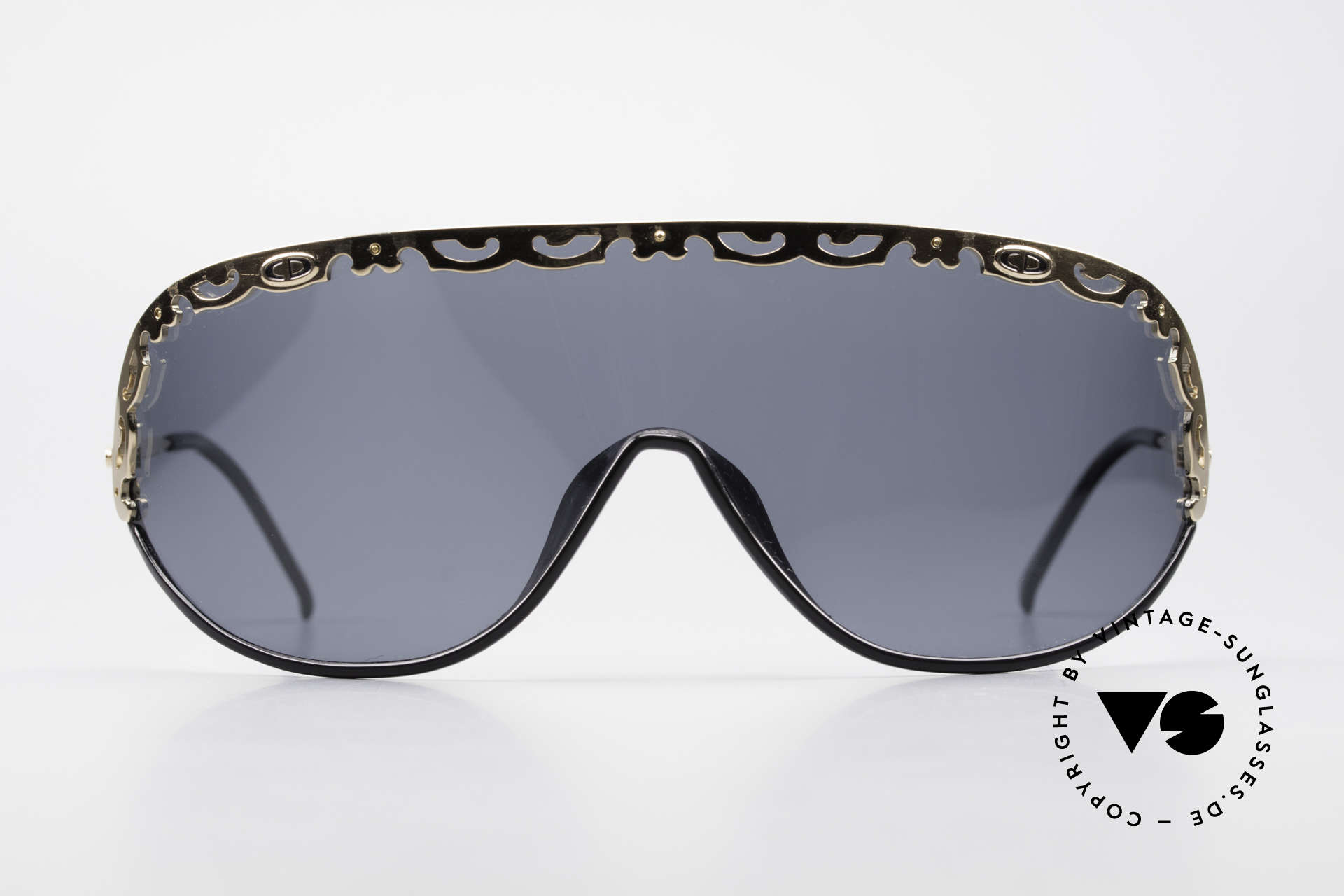 Christian Dior 2501 Rare 80's Sunglasses Polarized, one large, single shade in X-Large size (panorama view), Made for Women