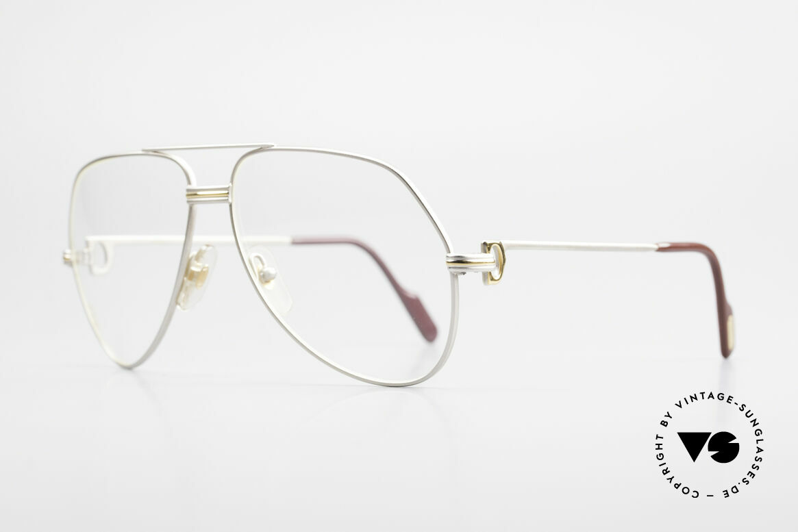Cartier Vendome LC - M Precious Palladium Finish, this pair (with L.Cartier decor) MEDIUM size 59-14, 135, Made for Men