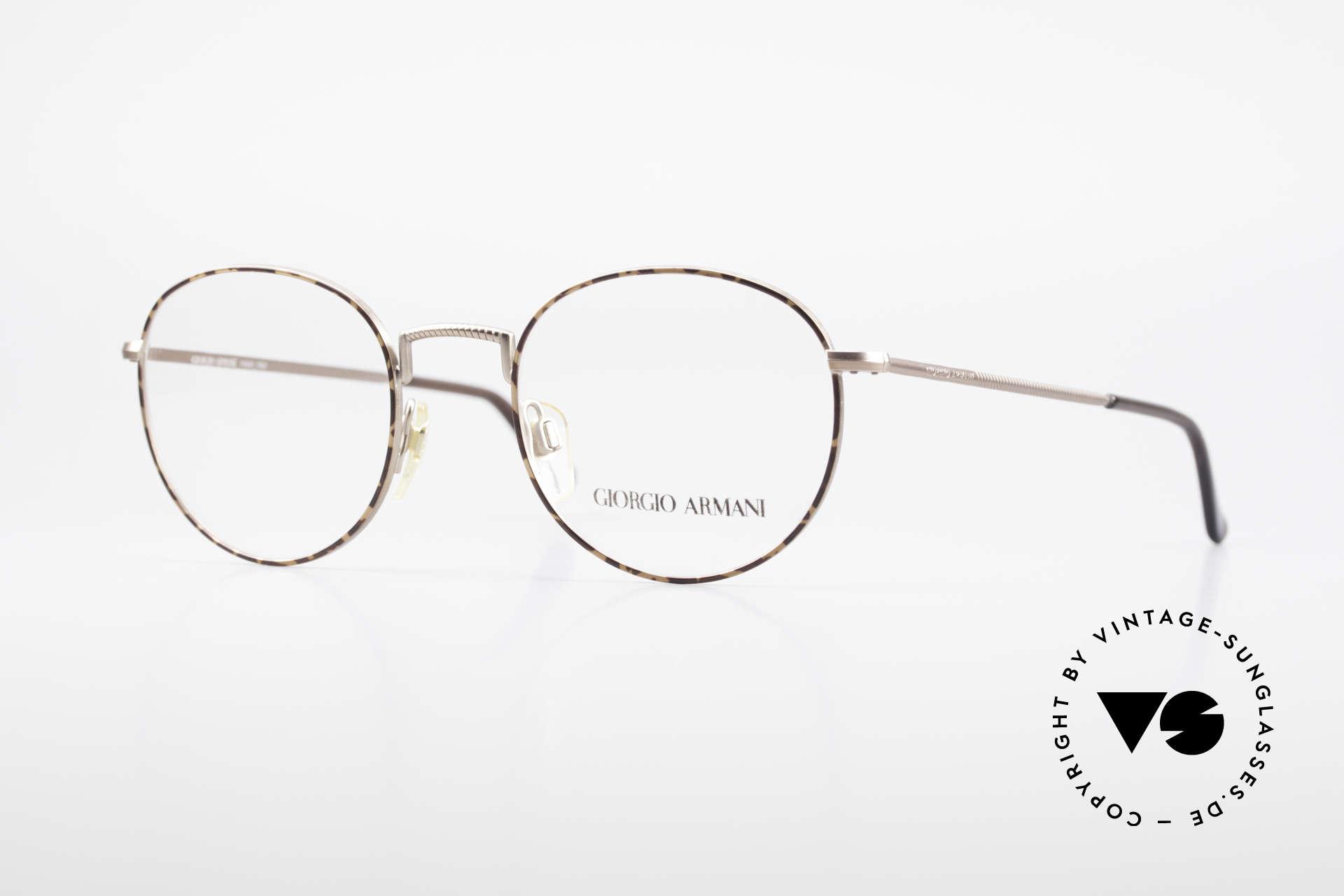 Giorgio Armani 231 80's Panto Frame No Retro, panto GIORGIO ARMANI vintage designer eyeglasses, Made for Men