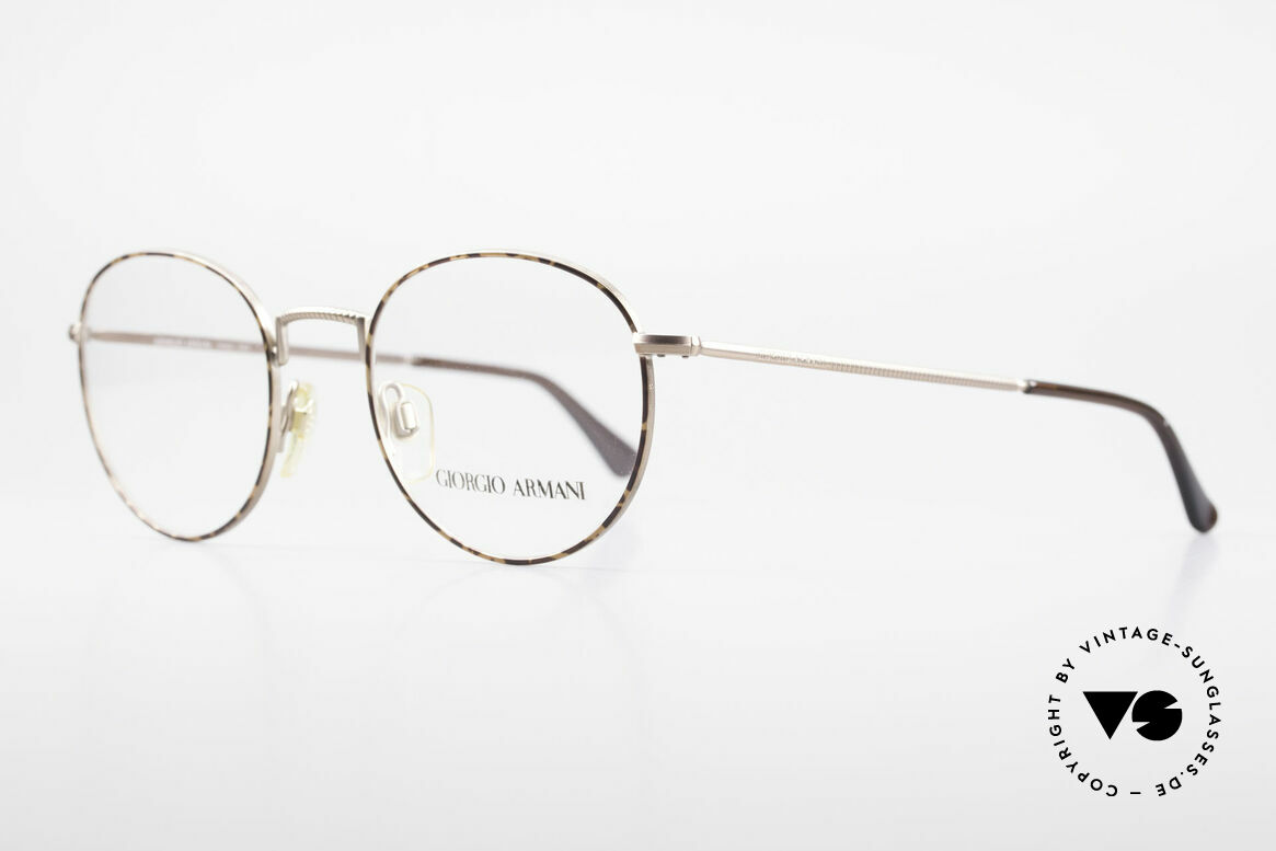 Giorgio Armani 231 80's Panto Frame No Retro, very noble frame finish in bronze & chestnut brown, Made for Men