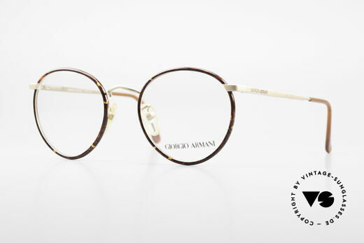 Giorgio Armani 145 Vintage 80's Panto Glasses Details