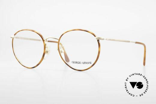 Giorgio Armani 112 90's Panto Eyeglasses Men Details