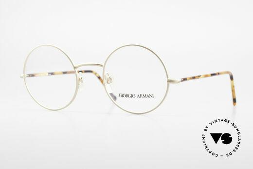 Giorgio Armani 117 Round Vintage Eyeglasses 80s Details