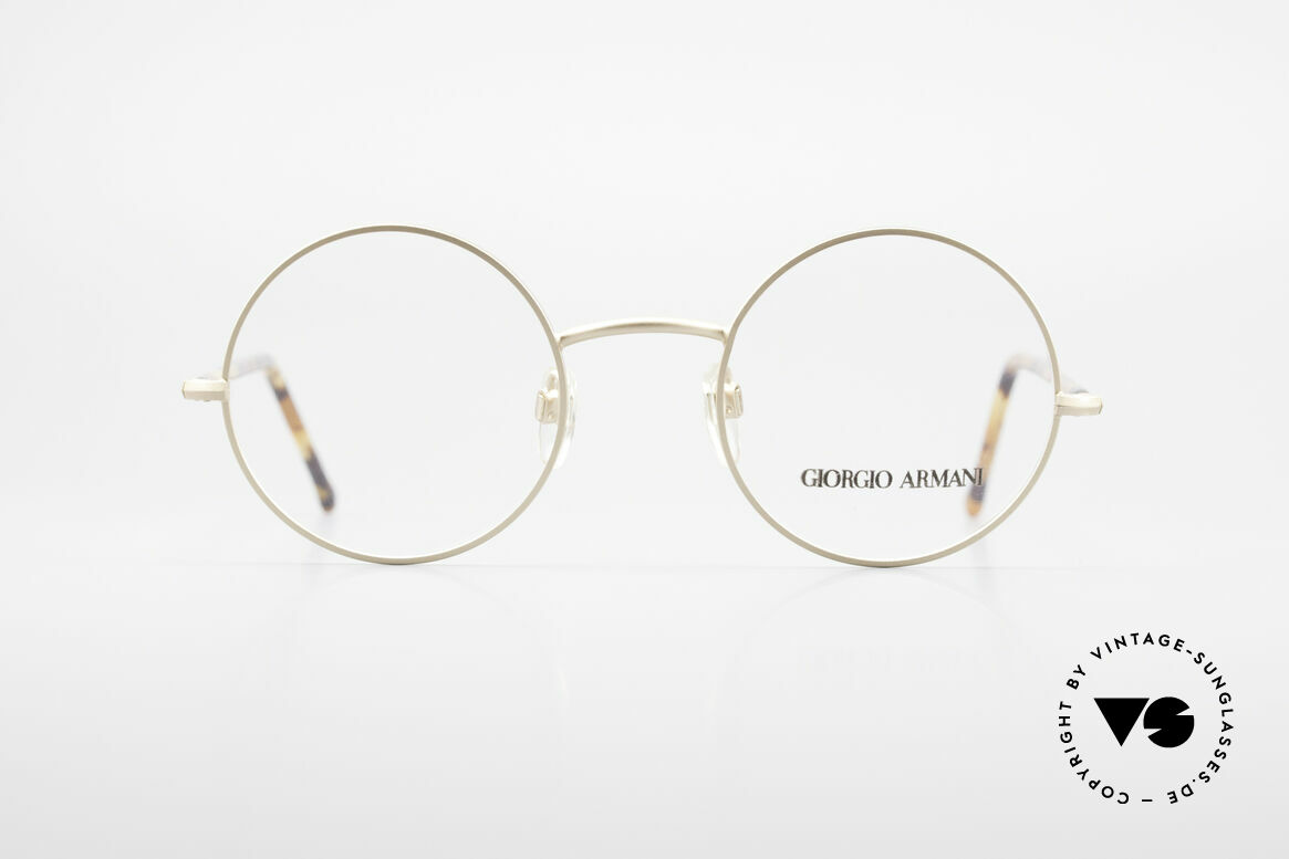 Giorgio Armani 117 Round Vintage Eyeglasses 80s, timeless Giorgio Armani vintage designer eyeglasses, Made for Men and Women