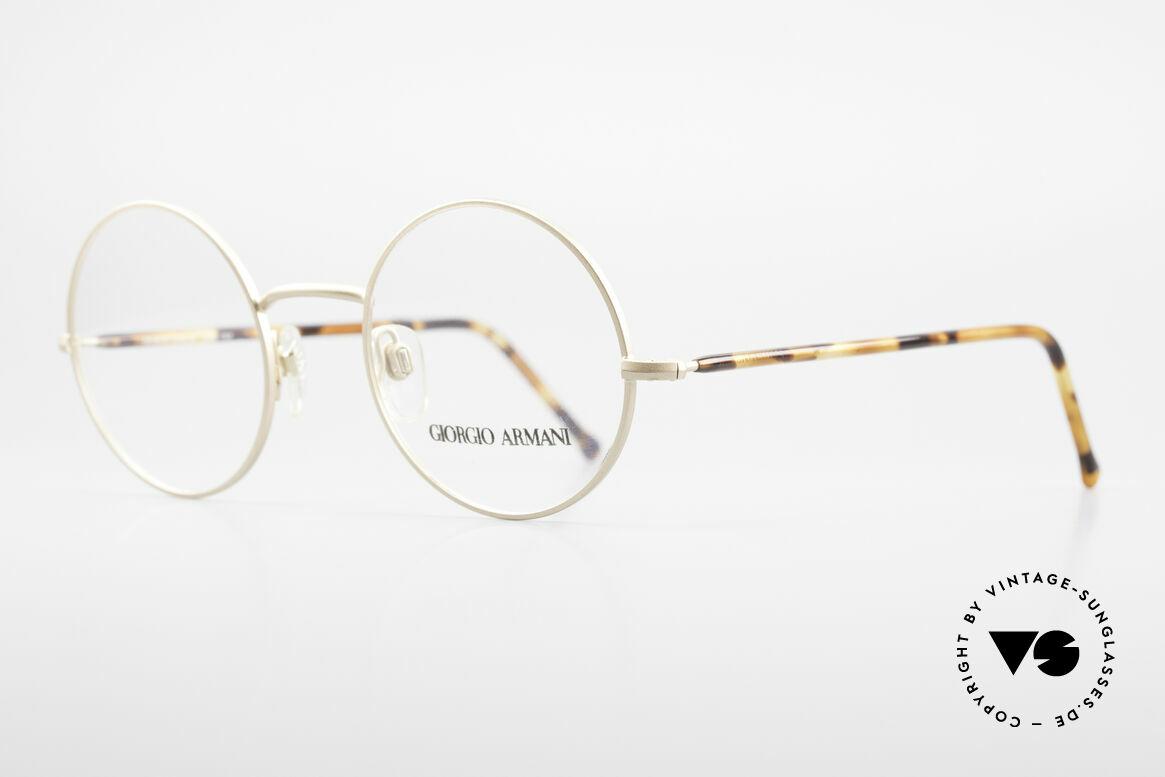 Giorgio Armani 117 Round Vintage Eyeglasses 80s
