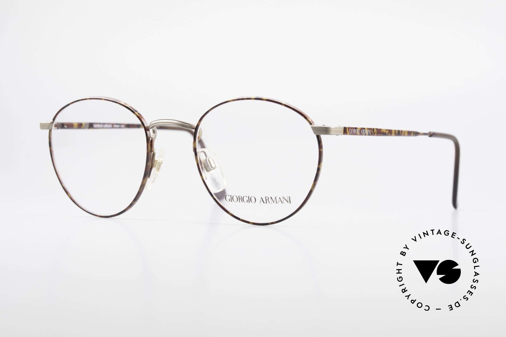 Giorgio Armani 166 No Retro Glasses 80's Panto, panto GIORGIO ARMANI vintage designer eyeglasses, Made for Men