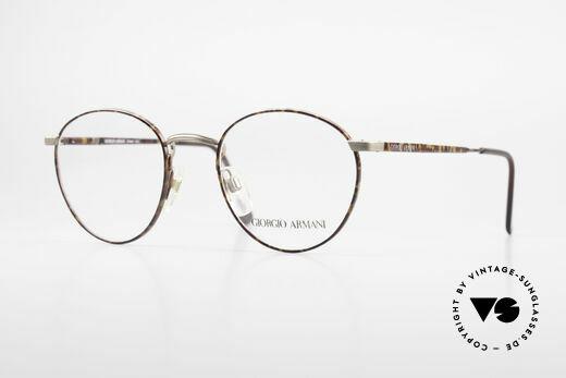 Giorgio Armani 166 No Retro Glasses 80's Panto Details