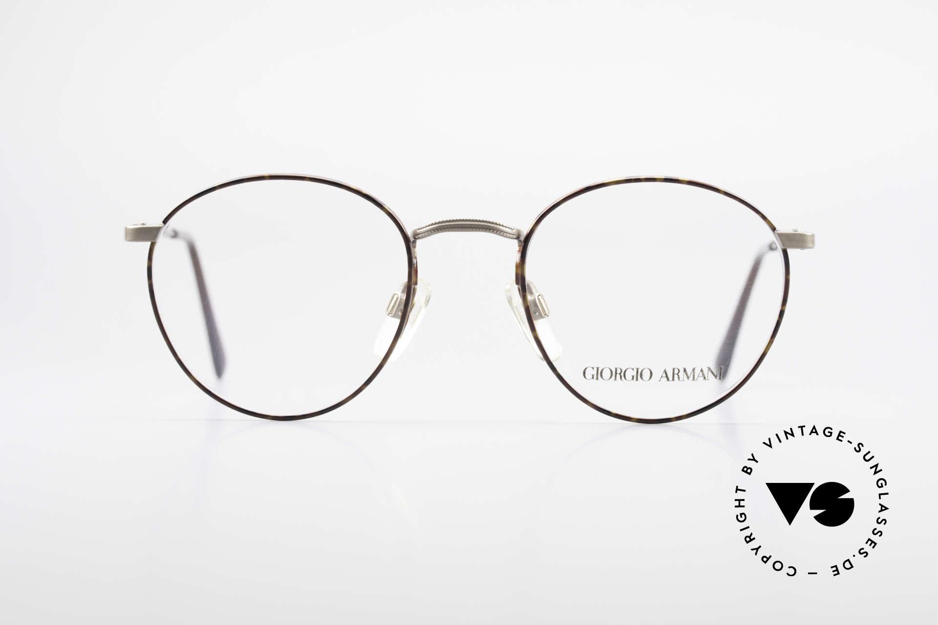 Giorgio Armani 166 No Retro Glasses 80's Panto, a timeless 1980's model in tangible premium quality, Made for Men